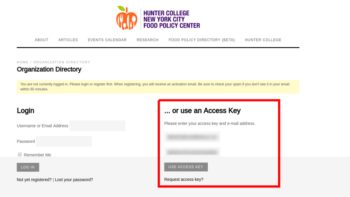 Edit your listing with an access key