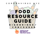 Coronavirus NYC Food Resource Guide Highbridge/Concourse