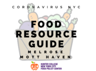 Coronavirus NYC Food Resource Guide: Mott Haven/Melrose