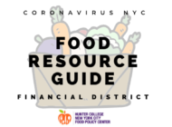 Coronavirus NYC Food Resource Guide: Financial District
